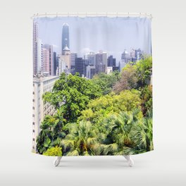 Hongkong Skyline 12 Shower Curtain