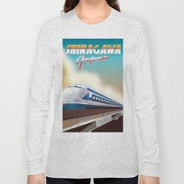 Shinagawa Japan travel poster Long Sleeve T-shirt