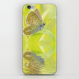 Zen Style Butterfly Over Calm Water iPhone Skin