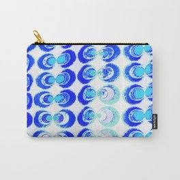 Blue circles fabric Carry-All Pouch
