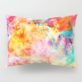 Colorful Abstract Nebula Pillow Sham