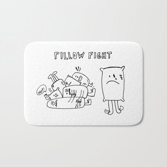 Pillow fight Bath Mat