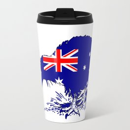 Australian Flag - Kiwi Bird Travel Mug