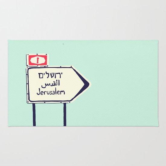 Jerusalem This Way Rug