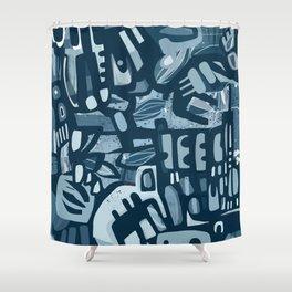 Winter Blues Shower Curtain