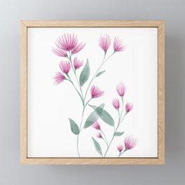 Floral botanical pattern Framed Mini Art Print