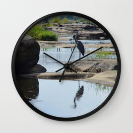 James River Park System- Blue Herons Wall Clock
