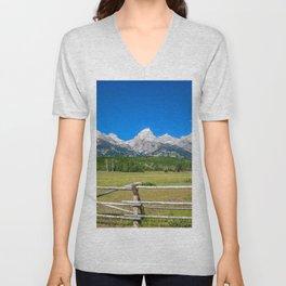 Desktop Wallpapers USA Colorado Nature Creeks moun Unisex V-Neck