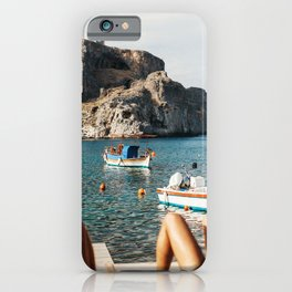 Slow Summer Day in Greece iPhone Case