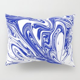 Marble,liquified graphic effect decor Pillow Sham