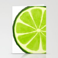 lime Stationery Cards featuring Lime by Linde Townsend
