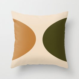 Unity : Green and Gold Throw Pillow