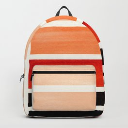 Burnt Sienna Minimalist Mid Century Modern Color Fields Ombre Watercolor Staggered Squares Backpack