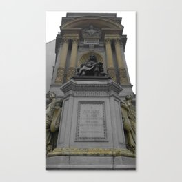 Paris Moliere black and white with color GOLD Canvas Print