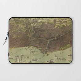 Vintage Pictorial Map of Chicago IL (1893) Laptop Sleeve