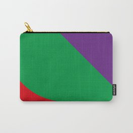 Important meeting of two halves of a nut; one is green, the other's purple. Carry-All Pouch