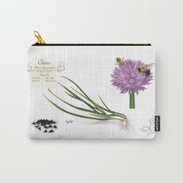 Chives and Pollinators Carry-All Pouch