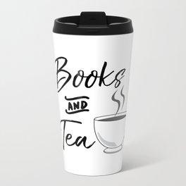 Books & Tea Metal Travel Mug