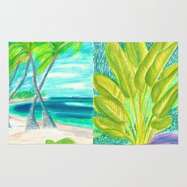 caribe beach and garden Rug
