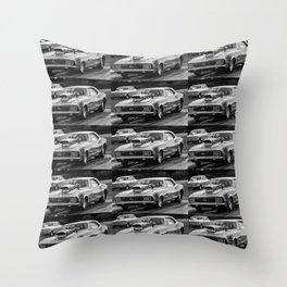 Black and White Chevy Camaro SS Throw Pillow