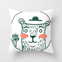 Dźwiedz - Hi Bear Throw Pillow