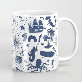 High Seas Adventure // Navy Blue Coffee Mug
