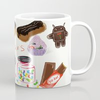 android Mugs featuring android  by leonov andrew