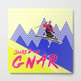 Shred the GNARski 04 Metal Print