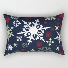 Christmas pattern with snowflakes Rectangular Pillow