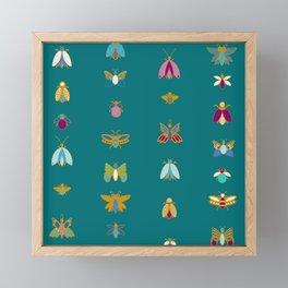 Line up bugs Framed Mini Art Print