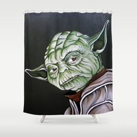 yoda Shower Curtains featuring Yoda by Laura-A