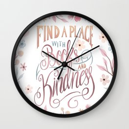 FIND A PLACE Wall Clock