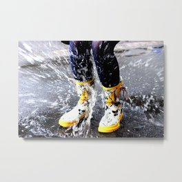Gumboots on a Rainy Day Metal Print
