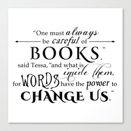 Words Have the Power to Change - Tessa (White) Canvas Print