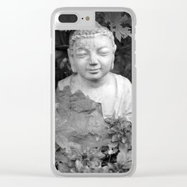 Buddha back and white Clear iPhone Case