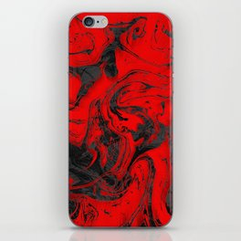 Black & Red Marble iPhone Skin