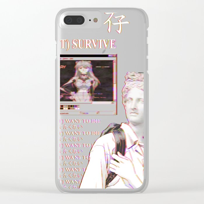 huge discount 7728a f7723 YOU WILL NOT SURVIVE EVANGELION - SAD JAPANESE ANIME AESTHETIC Clear iPhone  Case by poser_boy