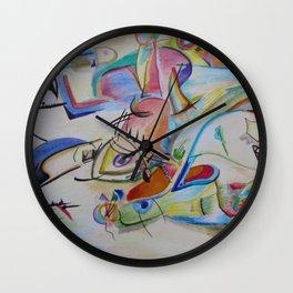 inspiration from Kandinsky . illustration . Wall Clock