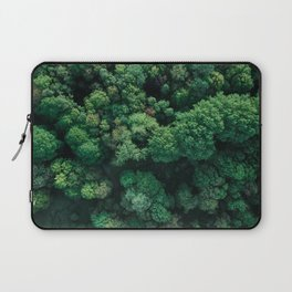 Trees from above | Forest fine art photography | Aerial drone photo print Laptop Sleeve
