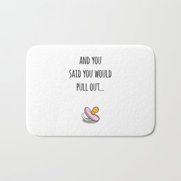 Oops Its a girl, funny pregnancy announcement Bath Mat