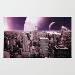 New New York : Galaxy City Dark Mauve Rug