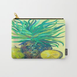 Pear and Pineapple Carry-All Pouch