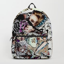 Doll Parts - Magazine Collage Painting Backpack