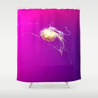 jelly fish Shower Curtains featuring Jelly by Argi Univrs