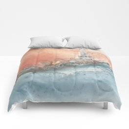 Storm at North Manitou Island Shoal Comforters