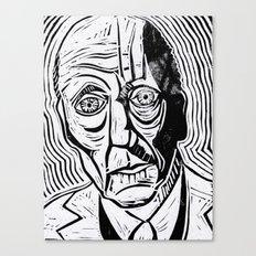William Burroughs Lino Cut Print Canvas Print