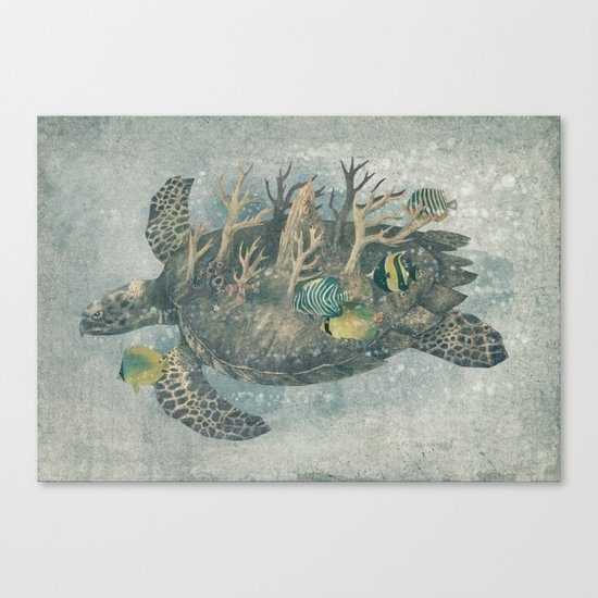 Coral Camouflage  Canvas Print