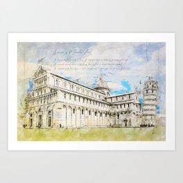 Piazza dei Miracoli Art Print