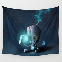 Glow Robot Wall Tapestry