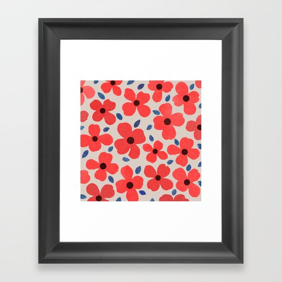 dogwood  5 sq Framed Art Print